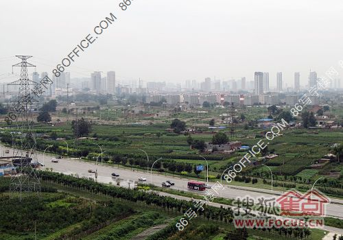 由锦融尚御在建高层俯瞰东古城