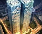 城市地标富力中心完美封顶 促进区域国际化商务办公前进