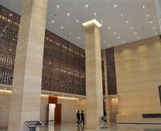 西安人保大厦入口及大堂图