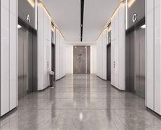 绿地云图大厦电梯前厅及走廊图